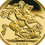2006 Gold Proof Half-Sovereign depicting Saint George