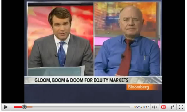 Marc Faber Again says Don't Buy Stocks, Says Equities to end lower this year