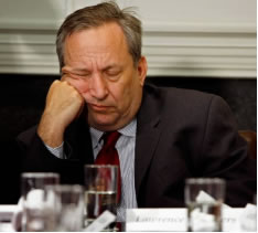 Lawrence Summers asleep on the job