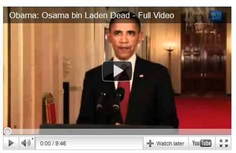in laden 39 s death. the video is in Laden 39 s.