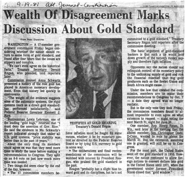 Newspaper Article - Wealth of Disagreement Marks Discussion About Gold Standard