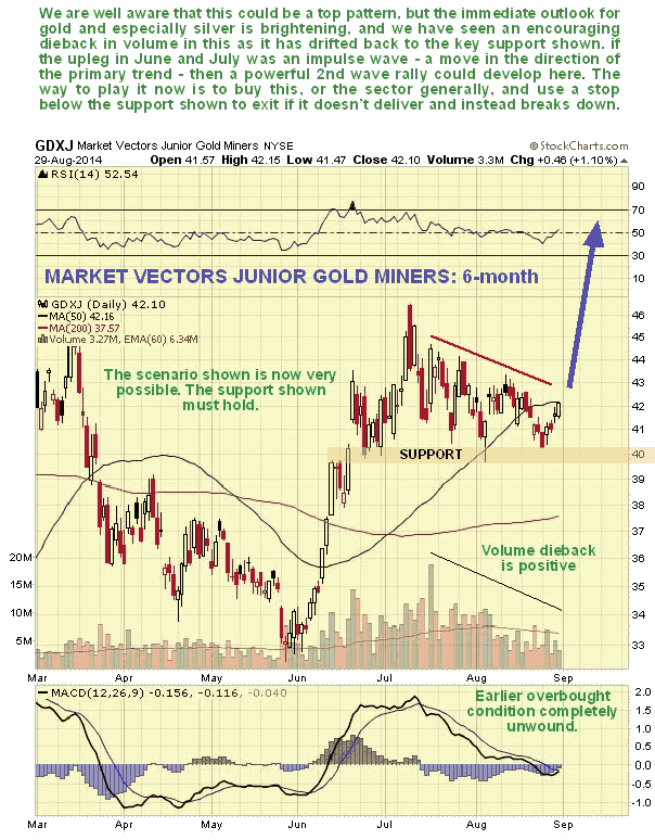 Market Vectors Junior Gold Miners 6-Month Chart