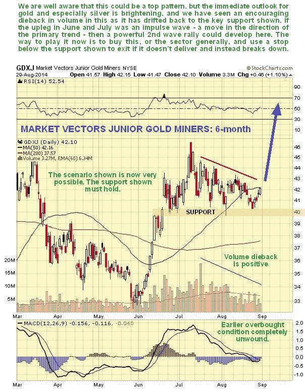 Market Vectors Junior Gold Miners 6-Month Chart