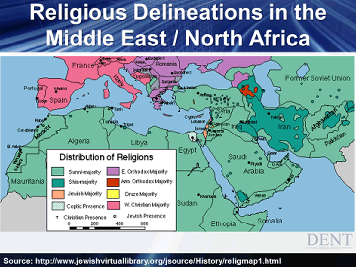 religious delineations in the middle east north africa