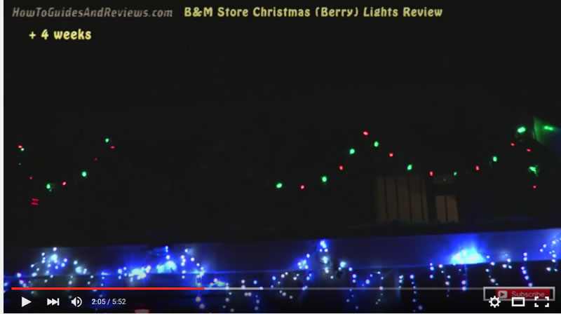 Cheap Christmas Lights Review (B&M Stores), What to Expect - Video ...