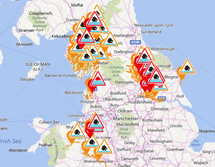 Flooding England Map.Uk Climate Change Floods House Prices Crash Could Hit 20 Of