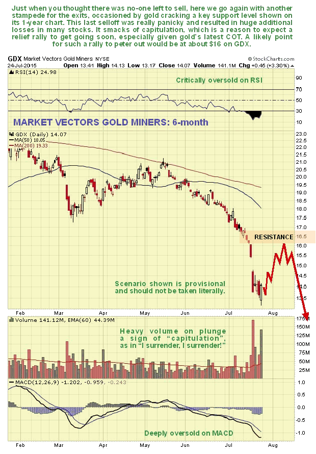 Market Vectors Gold Miners 6-Month Chart
