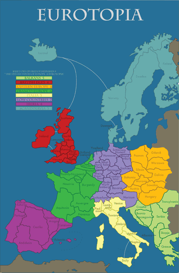 Eurodystopia A Future Divided The Market Oracle - Future map of the us