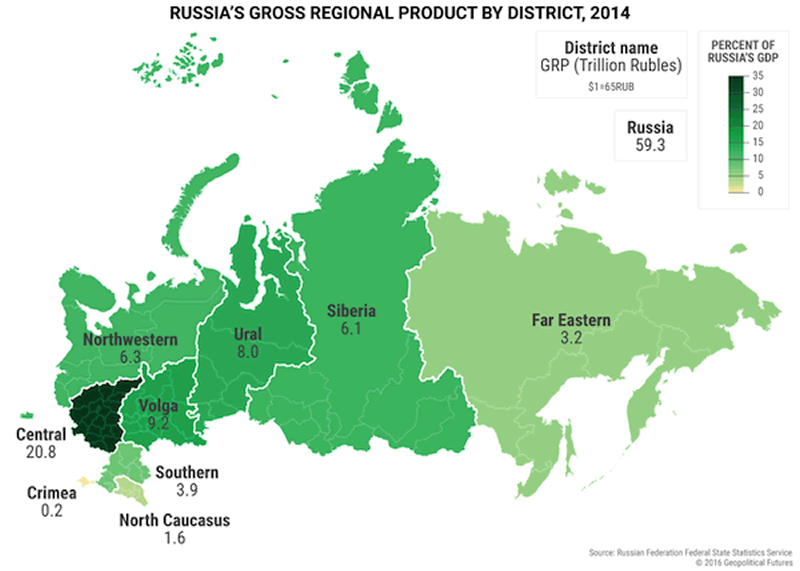 Maps That Explain US Main Economic Strength Over Russia The - Us economy map