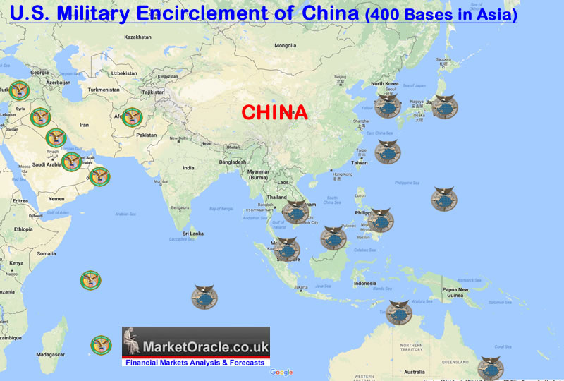 US Paving The Way For Massive First Strike On North Korea Nuclear - Map Of All Us Military Bases In The World