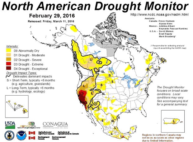 North American Drought Monitor