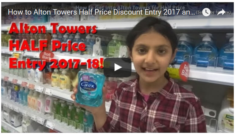 How to Alton Towers Half Price Discount Entry 2017 and 2018, Any Time, No Pre-Booking!
