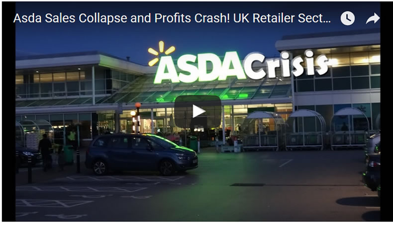 Asda Sales Collapse and Profits Crash! UK Retailer Sector Crisis 2017