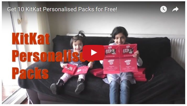 Get 10 KitKat Personalised Packs for Free!
