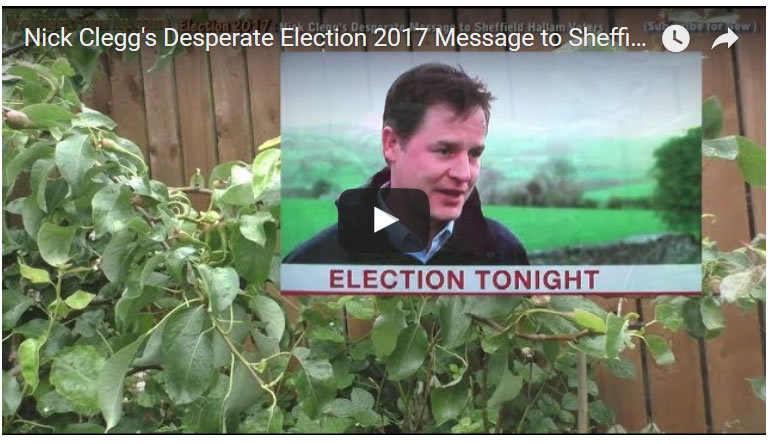 Nick Clegg's Desperate Election 2017 Message to Sheffield Hallam Voters