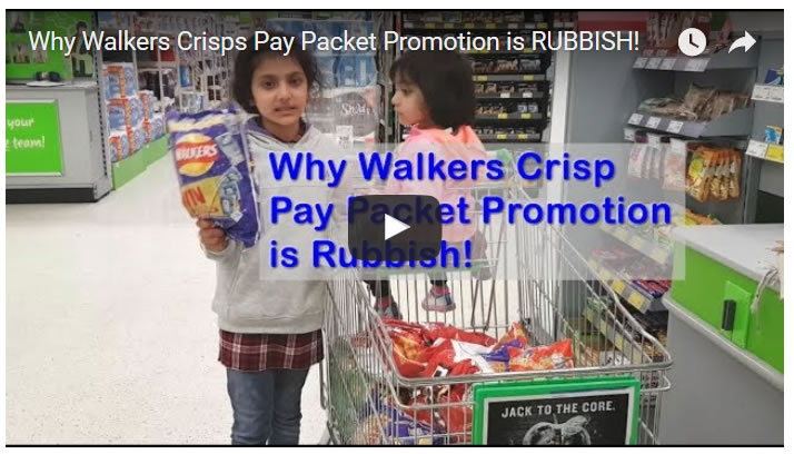 Why Walkers Crisps Pay Packet Promotion is RUBBISH!