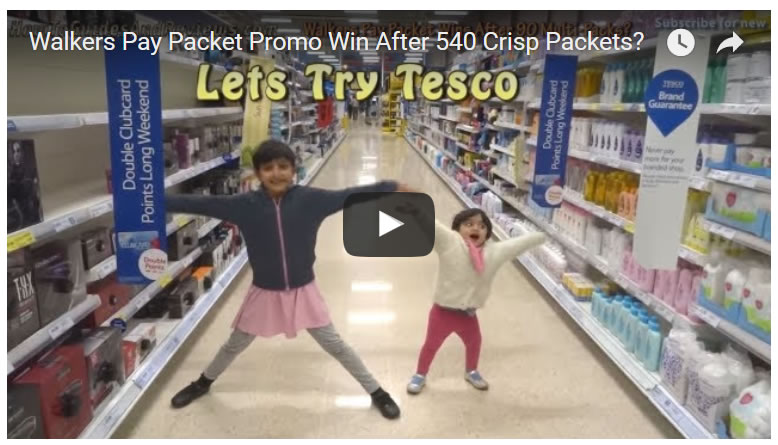 Walkers Pay Packet Promo Win After 540 Crisp Packets?