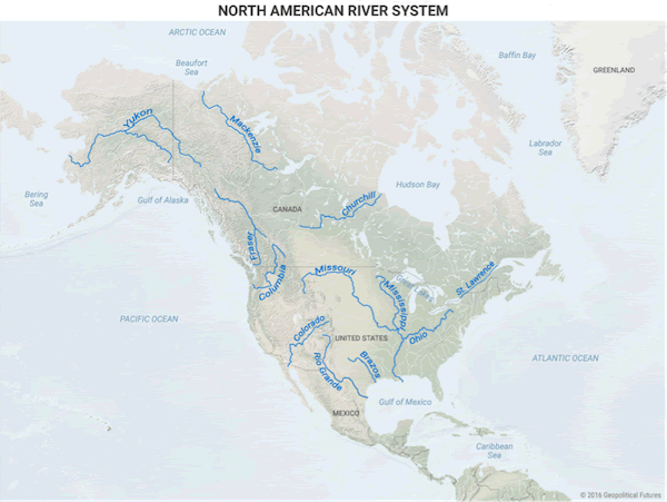 Maps That Explain Why North America Economy Will Flourish The - Us river transportation map