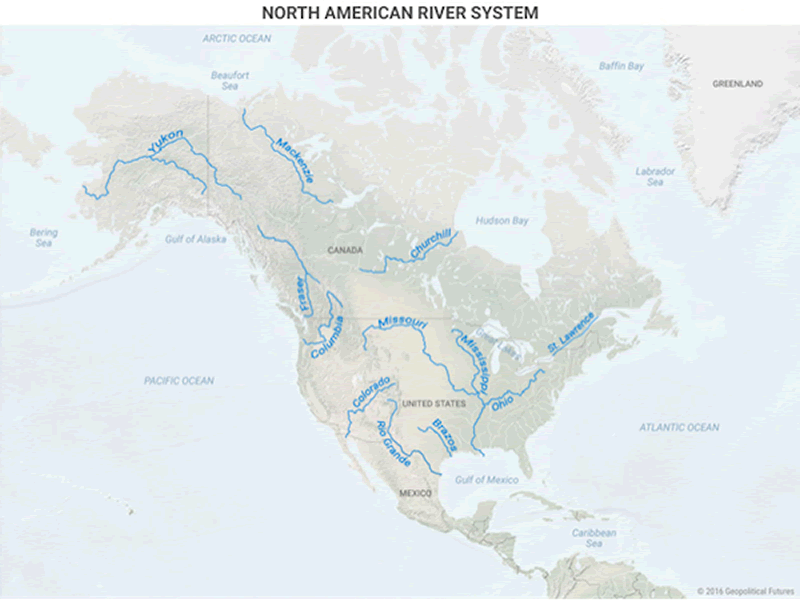 Mississippi river system trade route