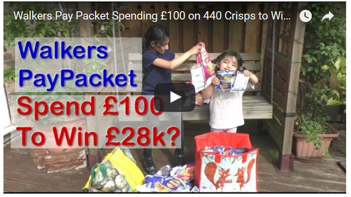 Walkers Pay Packet Spending £100 on 440 Crisps to Win £28k