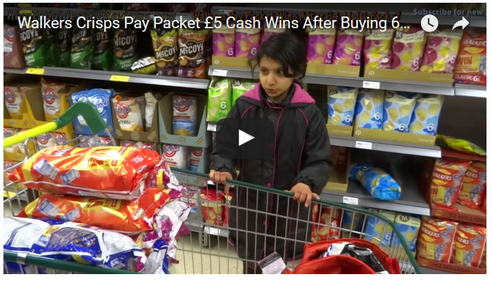 Walkers Crisps Pay Packet £5 Cash Wins After Buying 64 Multi-packs
