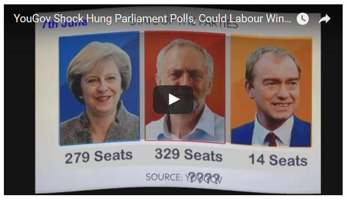 YouGov Shock Polls, Could Theresa May Lose, Labour Win Election 2017?