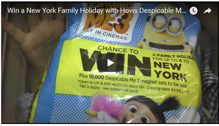 Win a New York Family Holiday with Hovis Despicable Me 3 Loaves of Bread