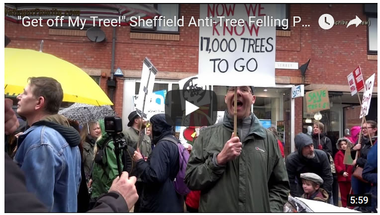 """Get off My Tree!"" Sheffield Anti-Tree Felling Protest Ready to March!"