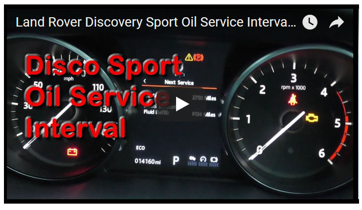 Land Rover Discovery Sport Oil Service Interval at 12,000, 14000 or 21,000 Miles?