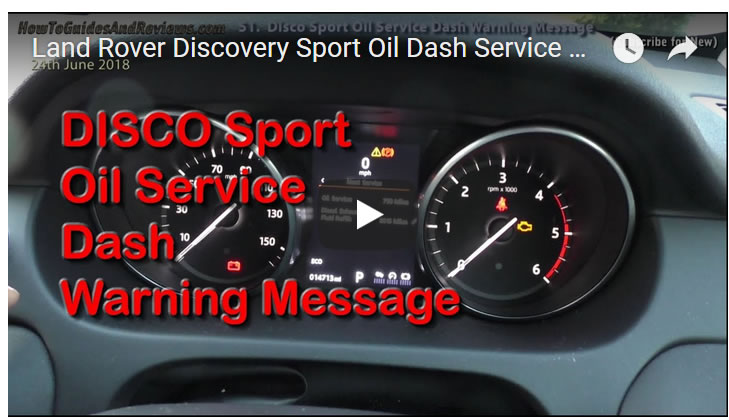 Land Rover Discovery Sport Oil Dash Service Warning Message