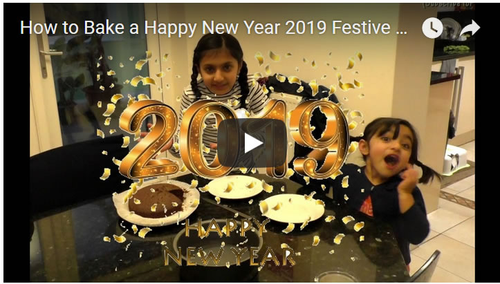 How to Bake a Festive Happy New Year 2019 Chocolate Cake!