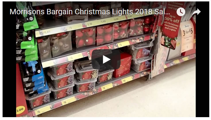 Morrisons Bargain Christmas Lights 2018 Sales Price Cut!