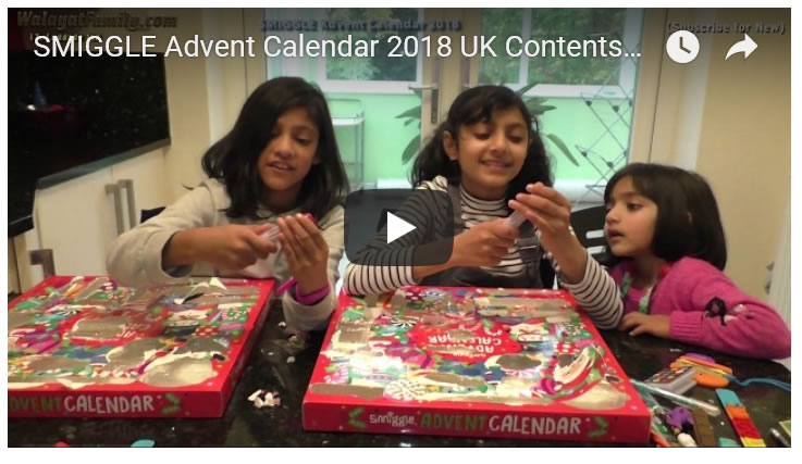 SMIGGLE Advent Calendar 2018 UK Contents - What You Get Look Inside Review