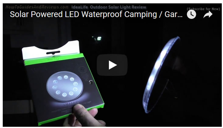 Solar Powered LED Waterproof Camping / Garden Light Review - IdeaLife