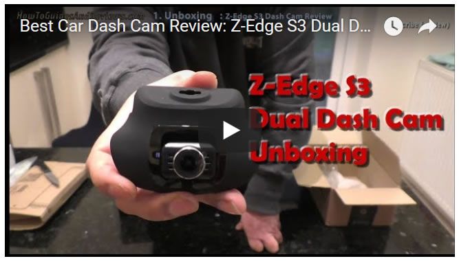 Best Car Dash Cam Review: Z-Edge S3 Dual Dash Cam - UNBOXING (1)