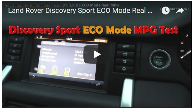 Land Rover Discovery Sport ECO Mode Real MPG Fuel Economy Test