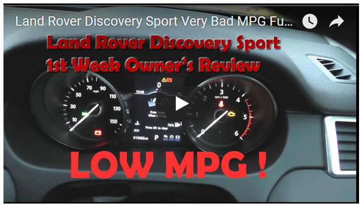 Land Rover Discovery Sport Very Bad MPG Fuel Economy! Real Owner's Review