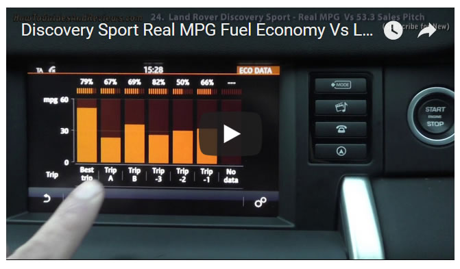 Discovery Sport Real MPG Fuel Economy Vs Land Rover 53.3 MPG Sales Pitch