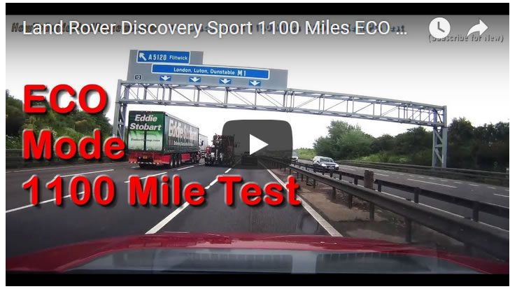 Land Rover Discovery Sport 1100 Miles ECO Mode Real MPG Fuel Economy Test