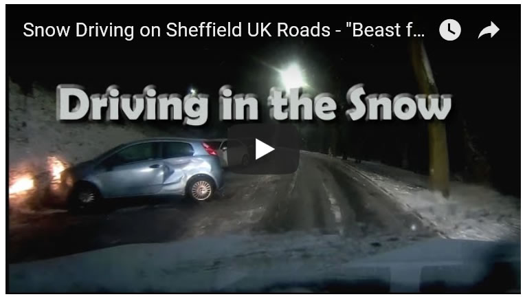 The Beast from the East Snow, UK Roads Driving Car Accidents