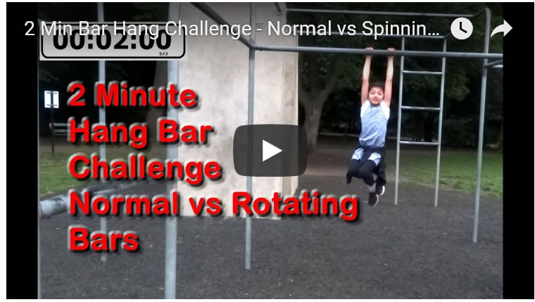 Theme Parks 2 Min Bar Hang Challenge - Normal vs Spinning / Rotating Bar