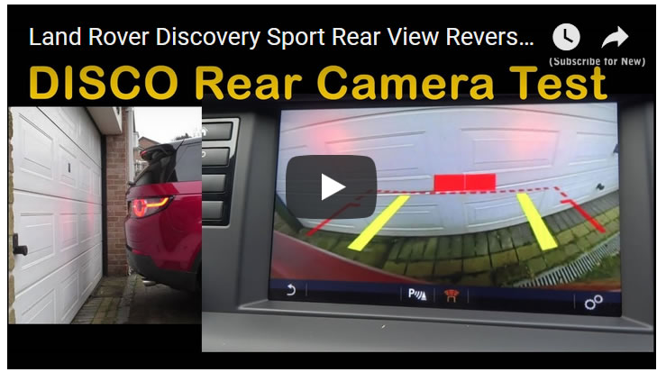 Land Rover Discovery Sport Rear View Reverse Camera Test