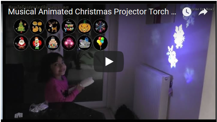 Musical Animated Christmas Projector Torch for Kids Review