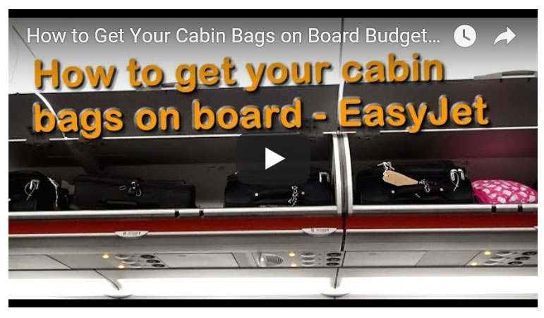 Getting Your Cabin Bags on Board Budget Airlines - EasyJet, Manchester Airport