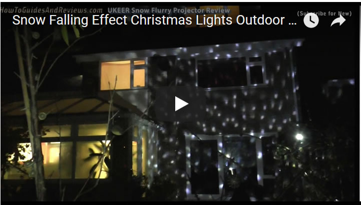 Snow Falling Effect Christmas Lights Outdoor Projector (UKEER) Review