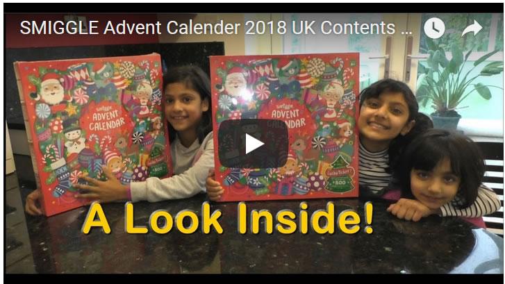 smiggle advent calendar 2018 uk contents