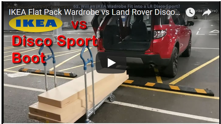 IKEA Flat Pack Wardrobe vs Land Rover Discovery Sport Boot