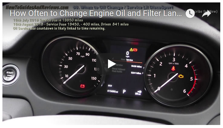 How Often to Change Engine Oil and Filter Land Rover Discovery Sport