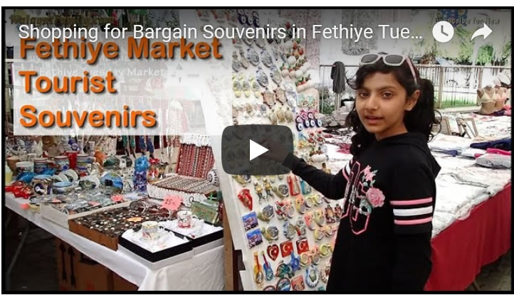 Shopping for Bargain Souvenirs in Fethiye Tuesday Market - Turkey Holidays 2019