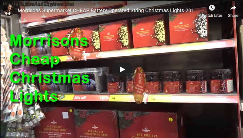 Morrisons Supermarket CHEAP Battery Operated String Christmas Lights 2019 Review